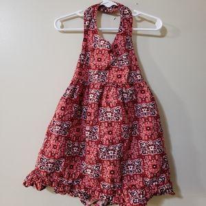 Old navy halter summer dress girls 2T navy & red